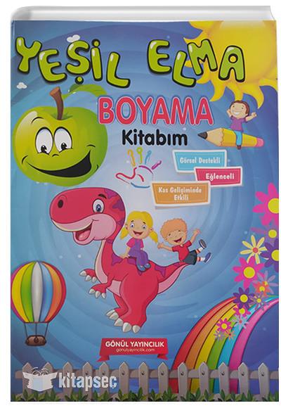 Yesil Elma Boyama Kitabim Gonul Yayincilik 9786055362423