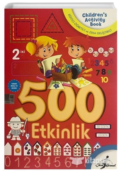 500 Okul Oncesi Aktiviteli Boyama 5 Kitap Takim Cocuk Gezegeni